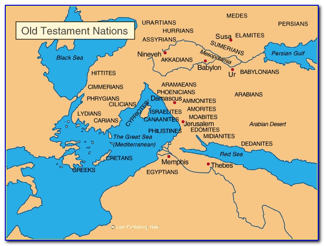 Map Of The Old Testament Middle East