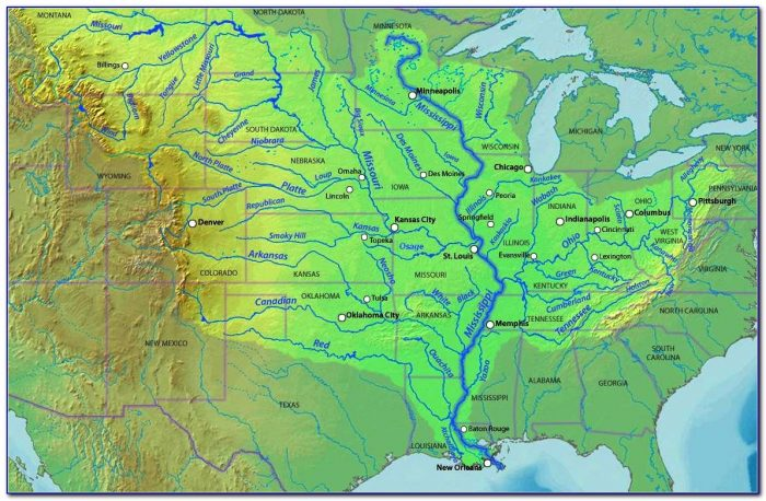 Map Of The Usa Mississippi River