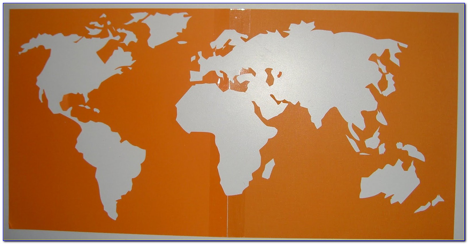 Map Of The World Cake Stencil