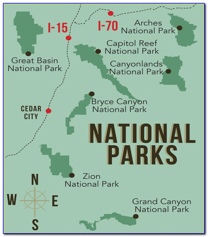 Map Of Us National Parks And Monuments
