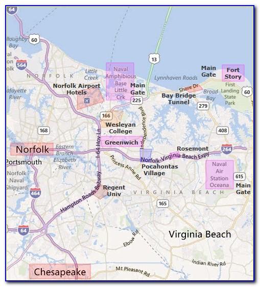 Map Of Va Beach Boardwalk Hotels