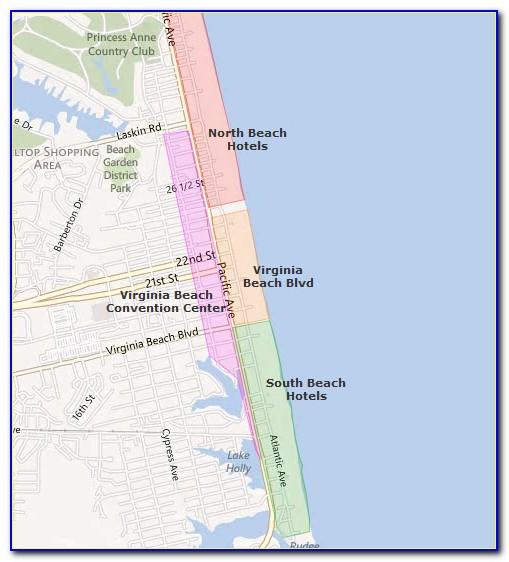 Map Of Va Beach Hotels