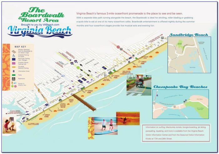 Map Of Virginia Beach Hotels On The Boardwalk