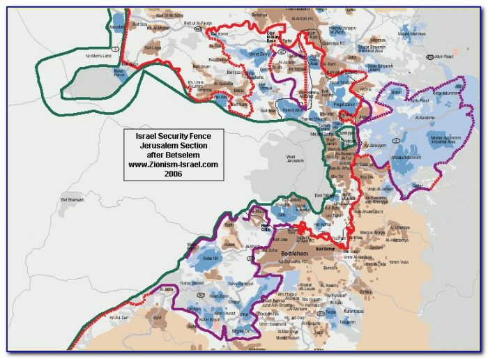 Map Of Wall Around Israel