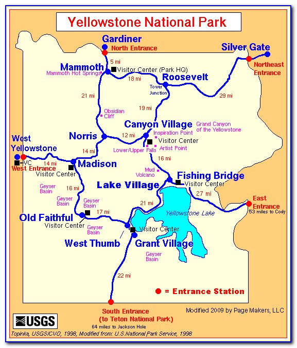 Map Of West Yellowstone Hotels