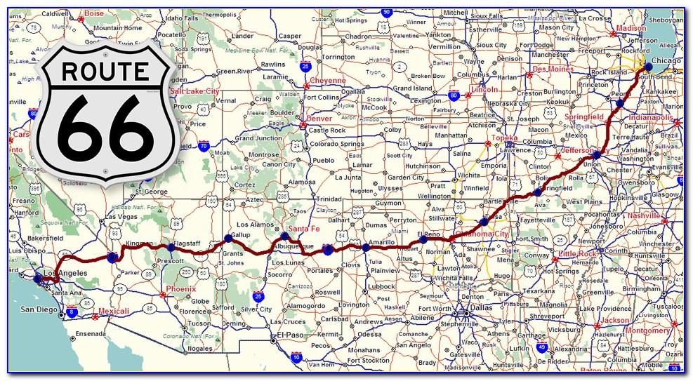 Map Original Route 66