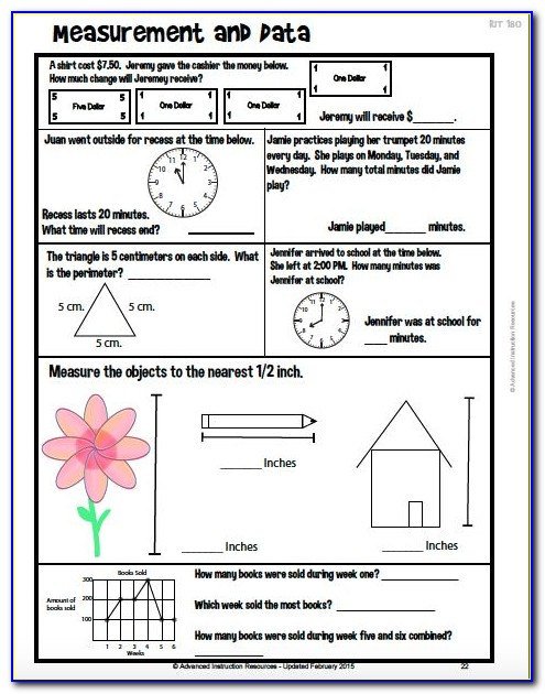 Map Practice Test 3rd Grade Math
