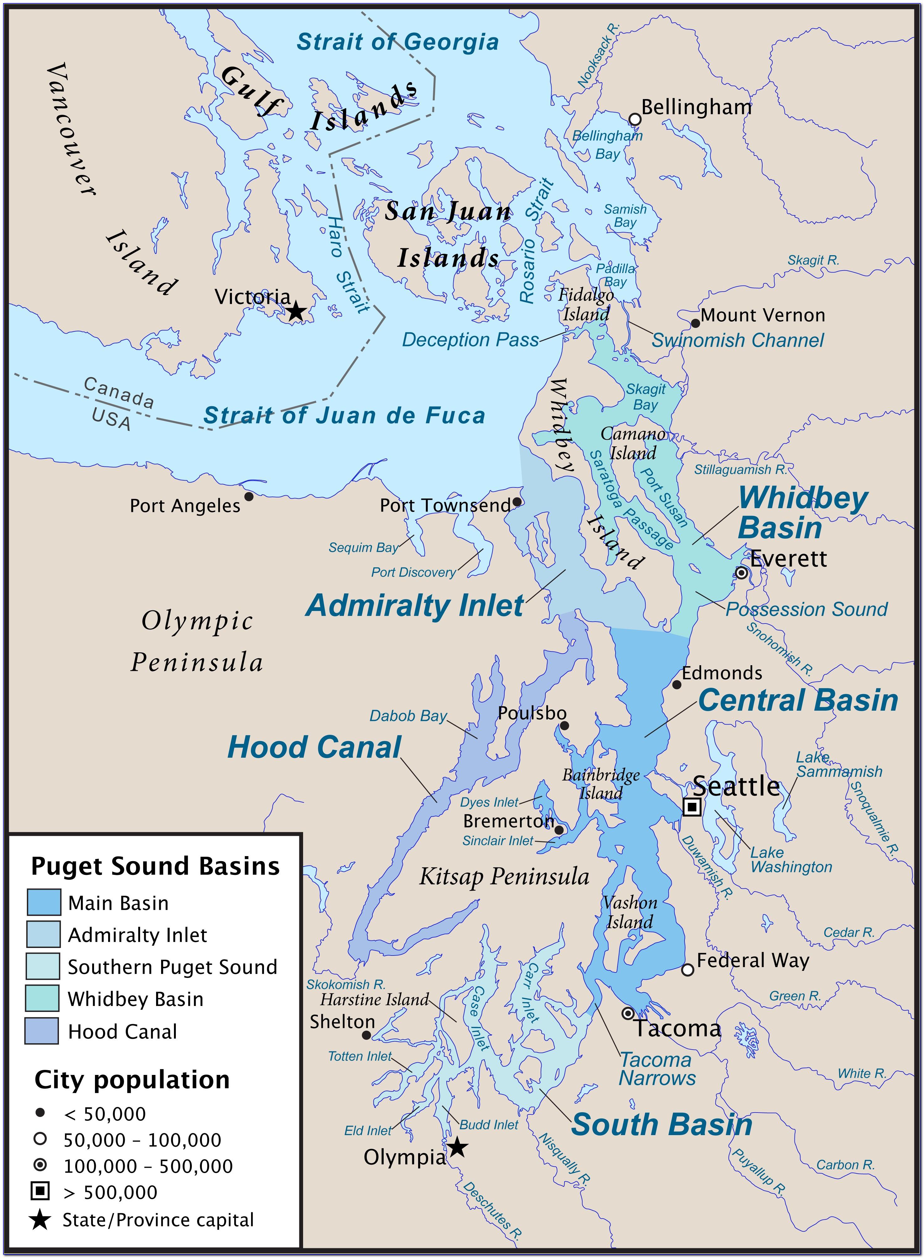 Map Puget Sound Region