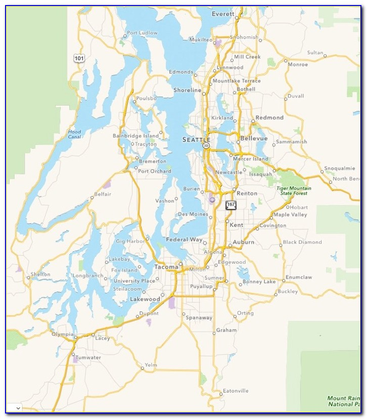 Map Puget Sound Washington