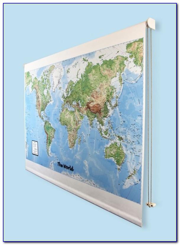 Map Roller Blind