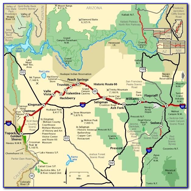 Map Rt 66 Arizona