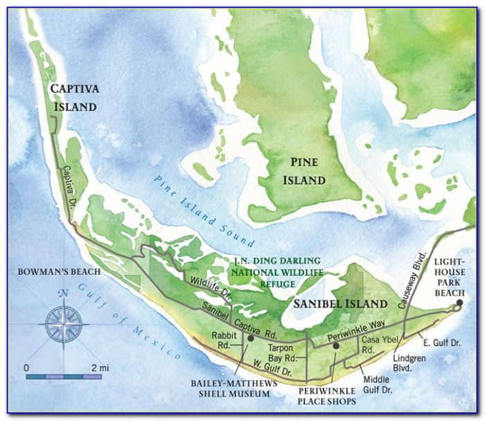 Map Sanibel Island Fl