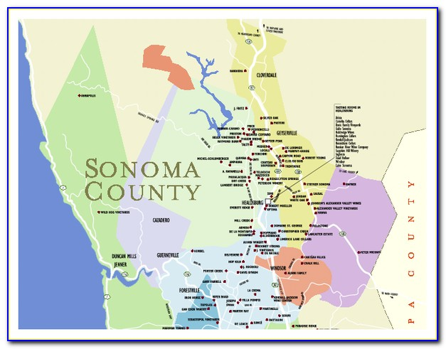 Map Sonoma County Ca