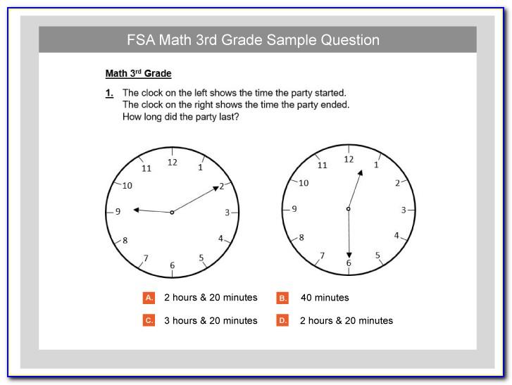 Map Test Practice 3rd Grade Language