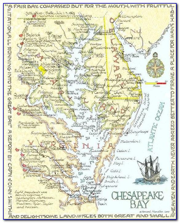 Maps Chesapeake Bay Bridge
