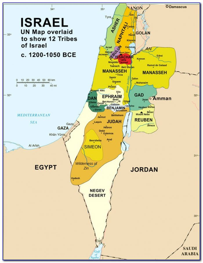 Maps Of Biblical Israel
