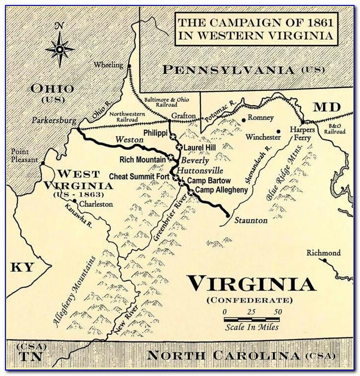 Maps Of Civil War Battles In Virginia