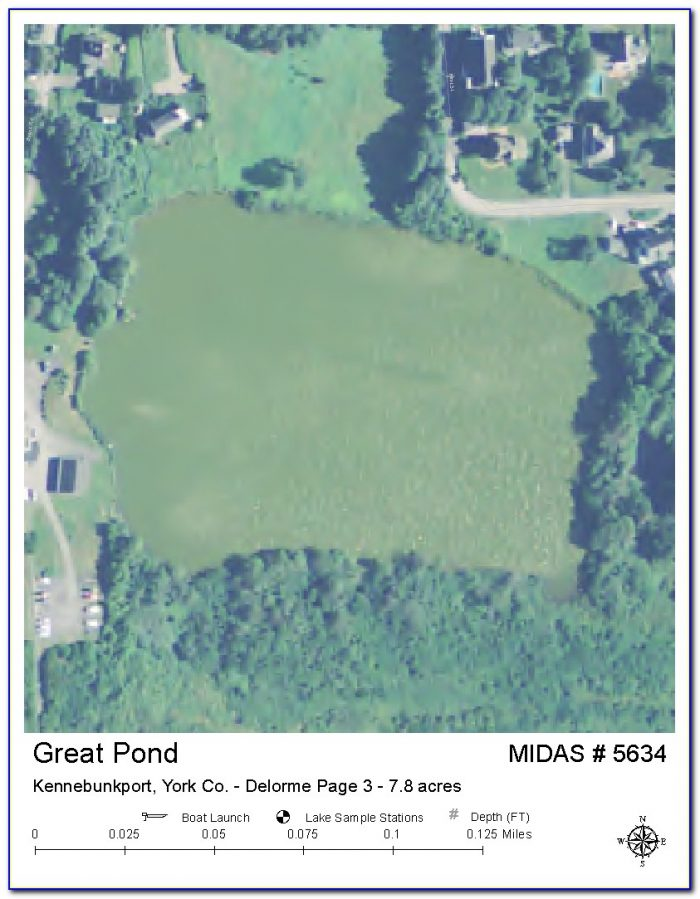 Maps Of Maine Lakes And Ponds