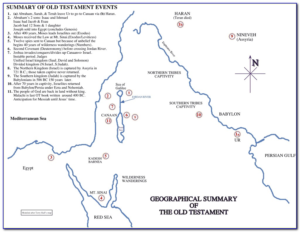 Maps Of The Old Testament World