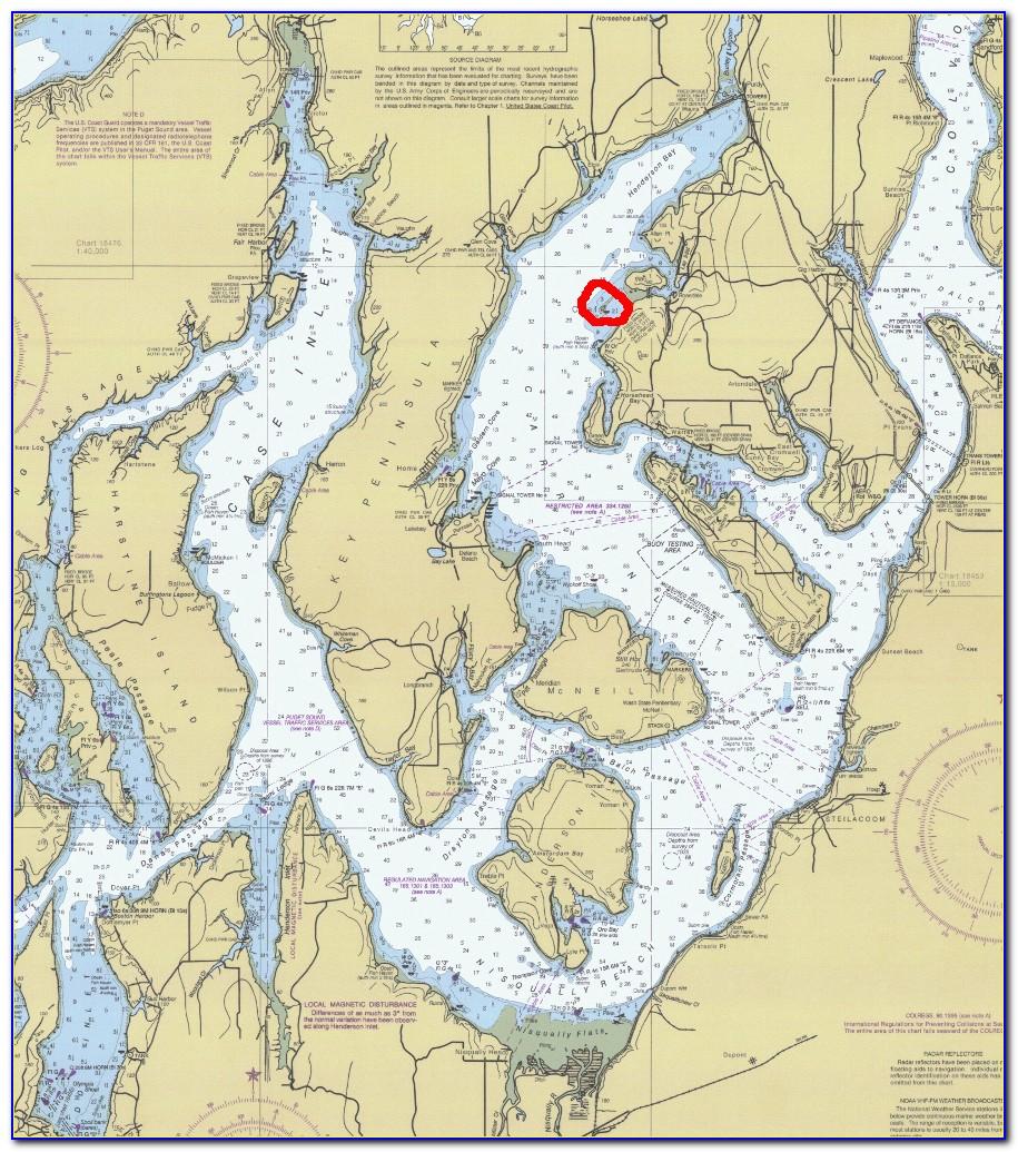 Marine Area 10 Puget Sound Map