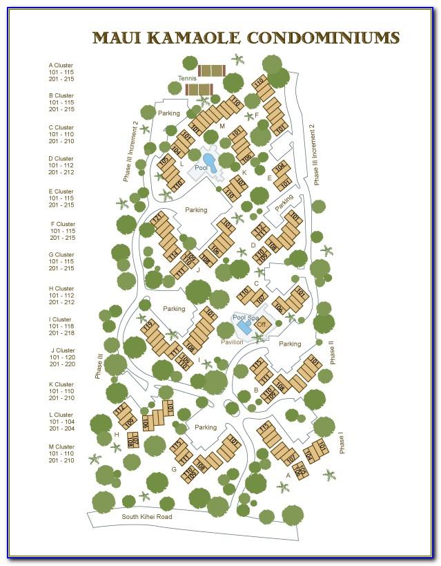 Maui Kamaole Sands Site Map