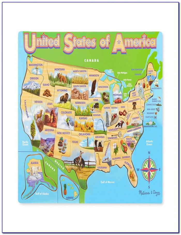 Melissa And Doug Map Puzzle