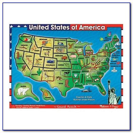 Melissa And Doug United States Map Wood Puzzle