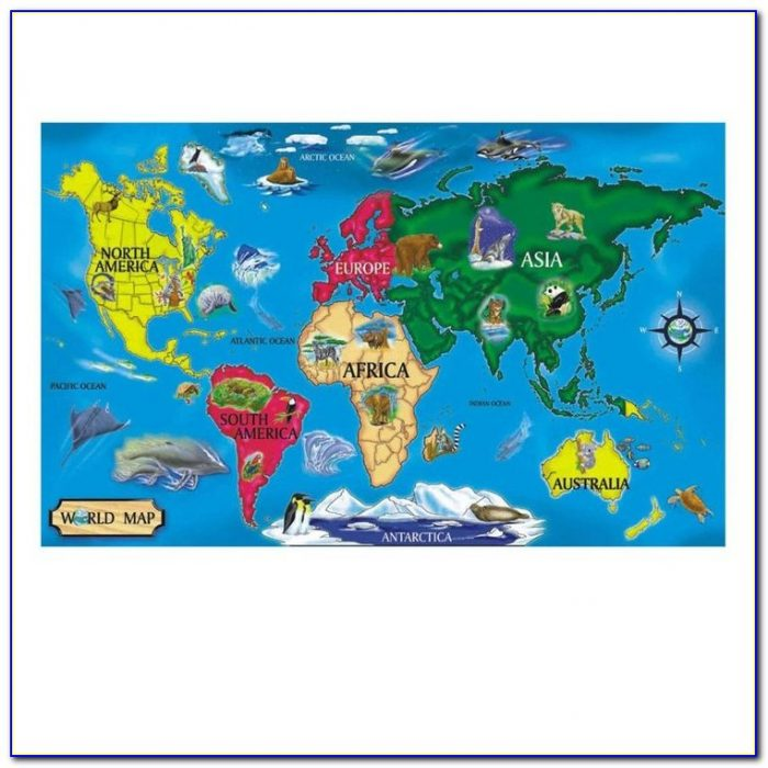 Melissa And Doug World Map Floor Puzzle