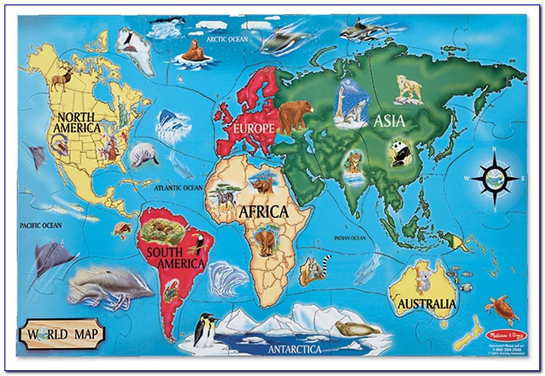 Melissa And Doug World Map Puzzle