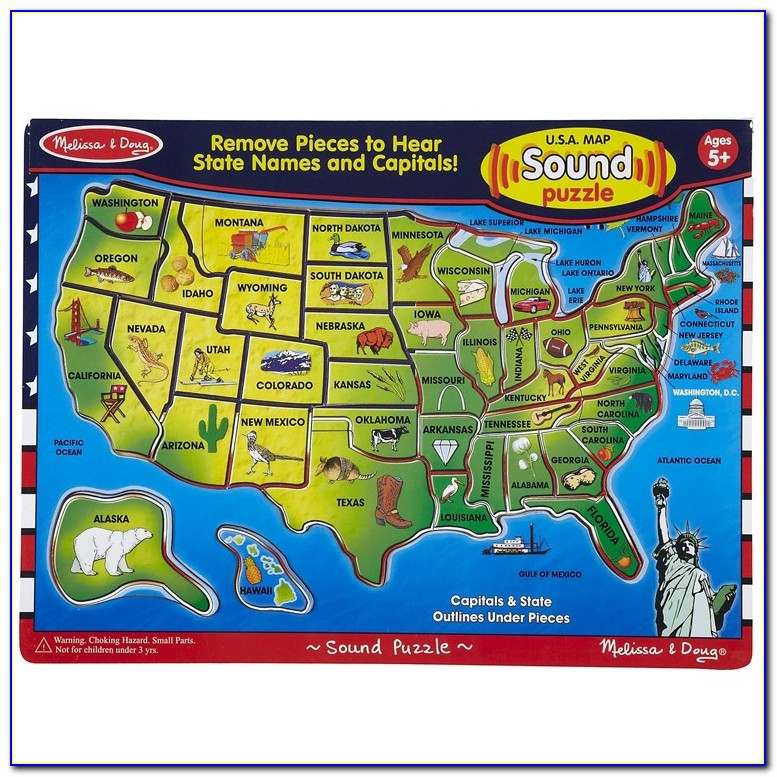 Melissa & Doug Usa Map Sound Puzzle