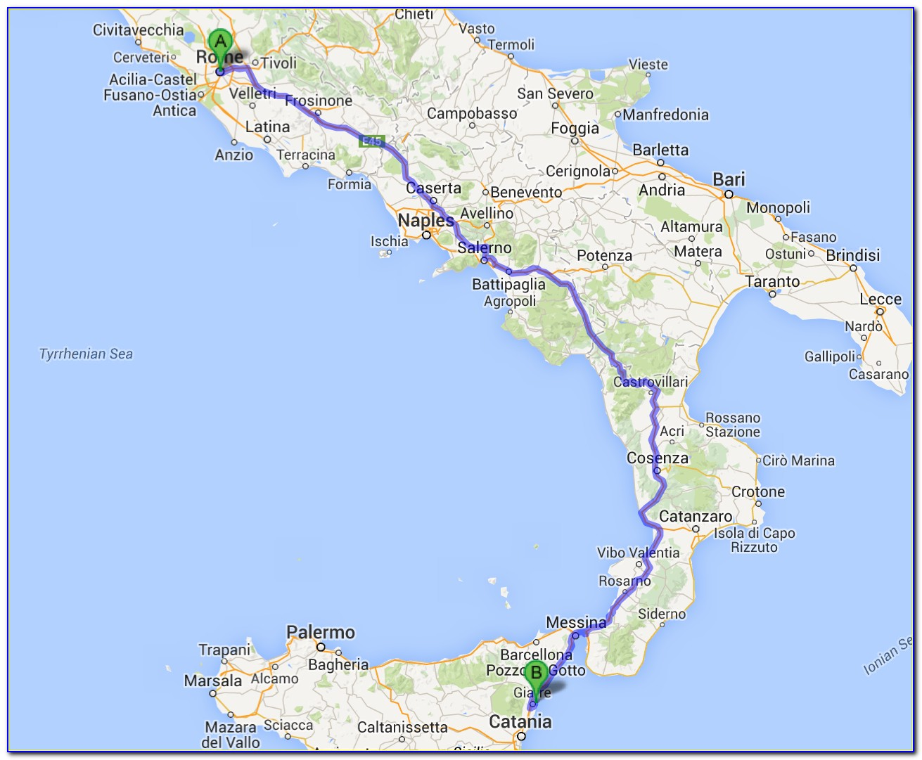 Michelin Road Map Of Sicily