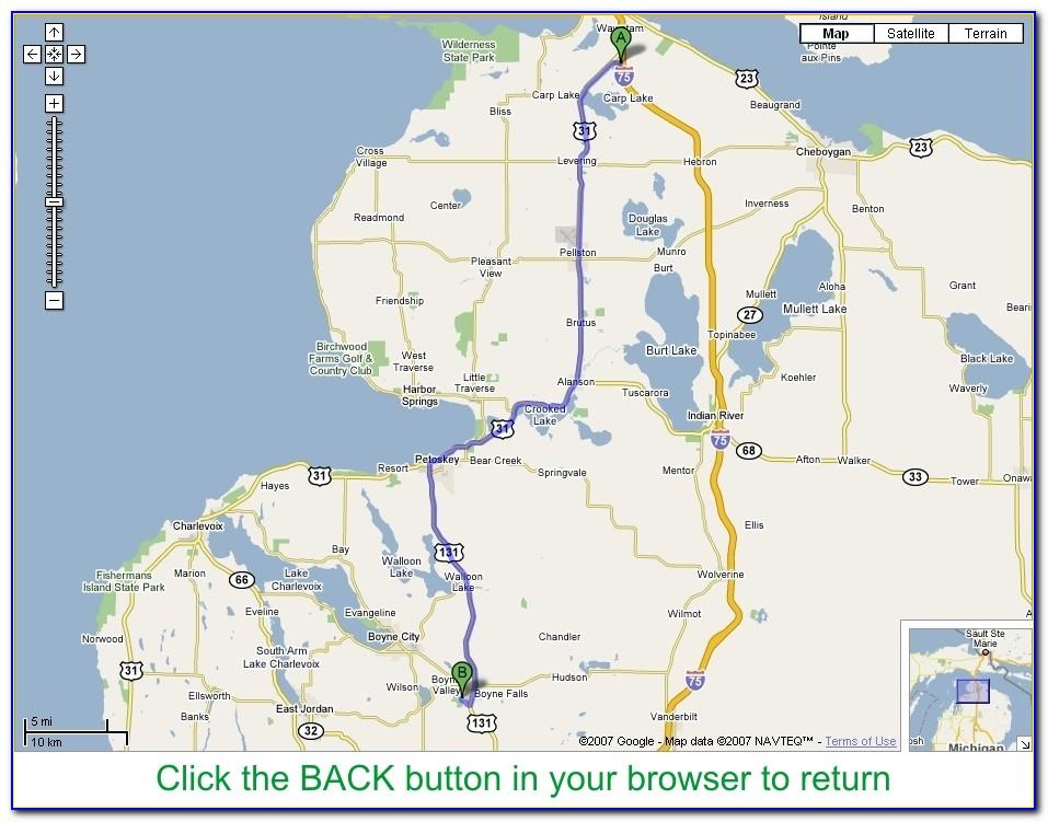 Michigan Disc Golf Courses Map