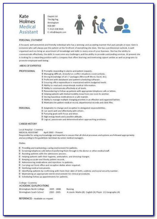 Microsoft Medical Assistant Resume Templates