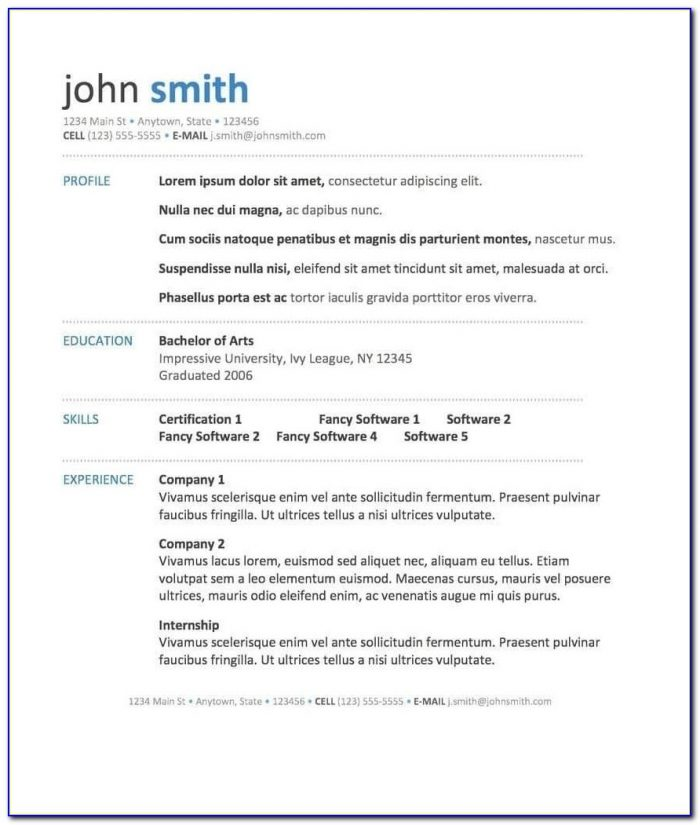 Free 40 Top Professional Resume Templates Free Microsoft Word In Within Resume Template Word 2017
