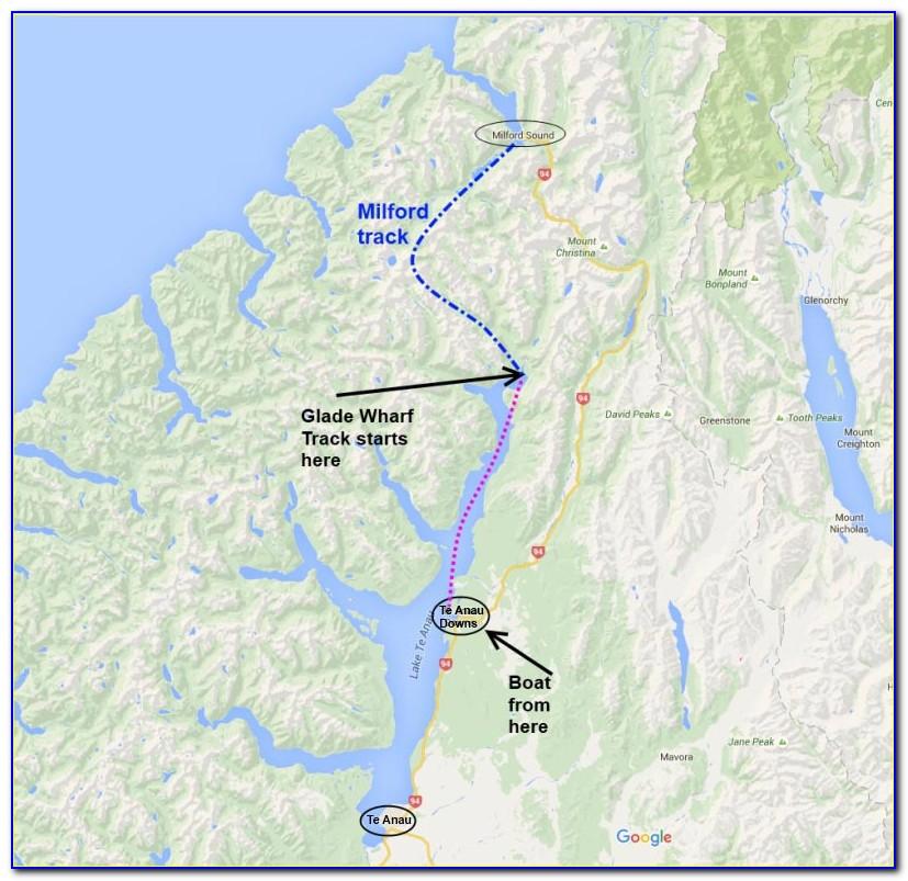 Milford Sound Trek Map