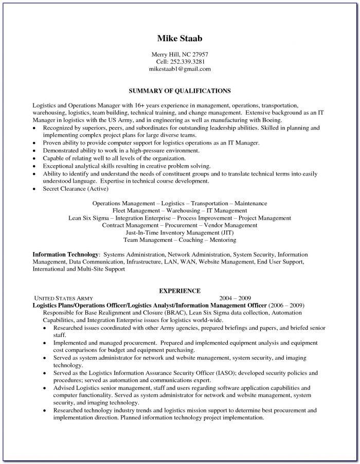 Military Resume Writers Free