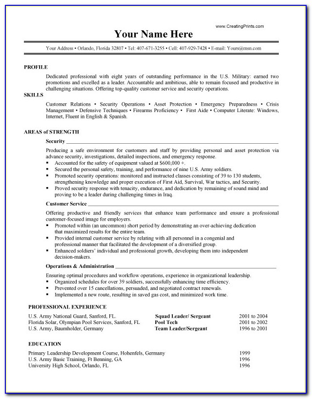 17 Best Images About Resume Templates And Cv Reference On Military Pertaining To Military Resume Builder 2017