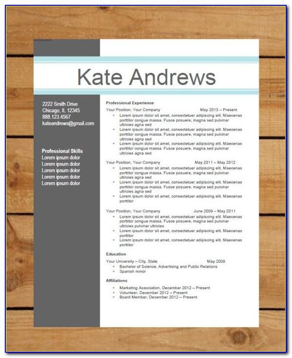 Modern Cv Template Free Download