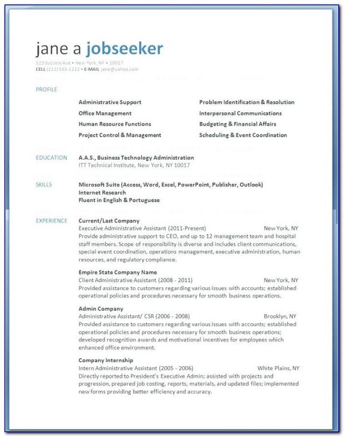 Modern Resume Template Free Download 2018