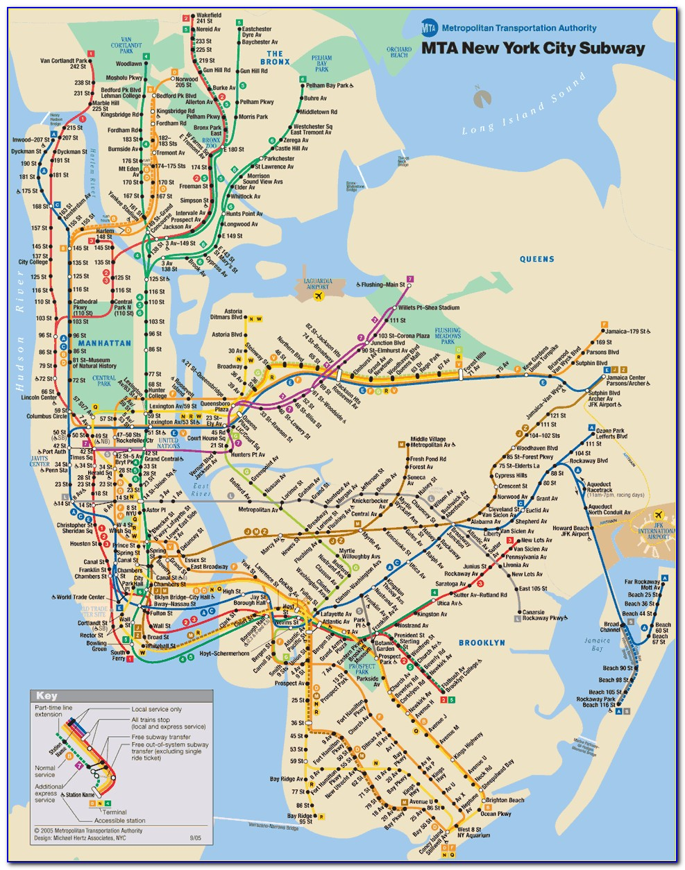 Mta Subway Map New York Pdf