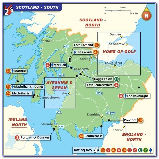 Muirfield Golf Course Scotland Map