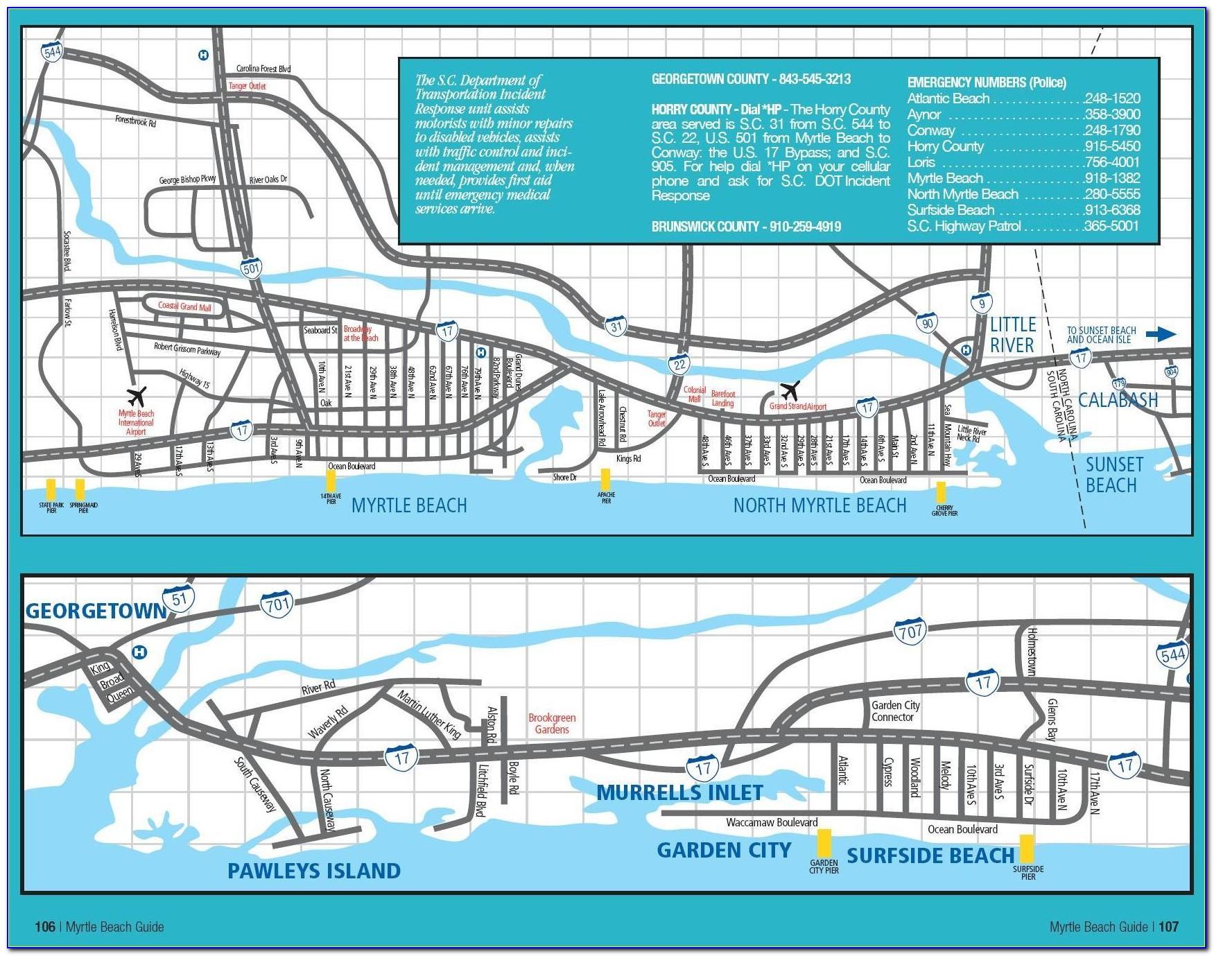 Myrtle Beach Golf Cart Map