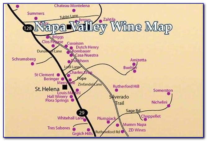 Napa Valley Winery Hotel Map