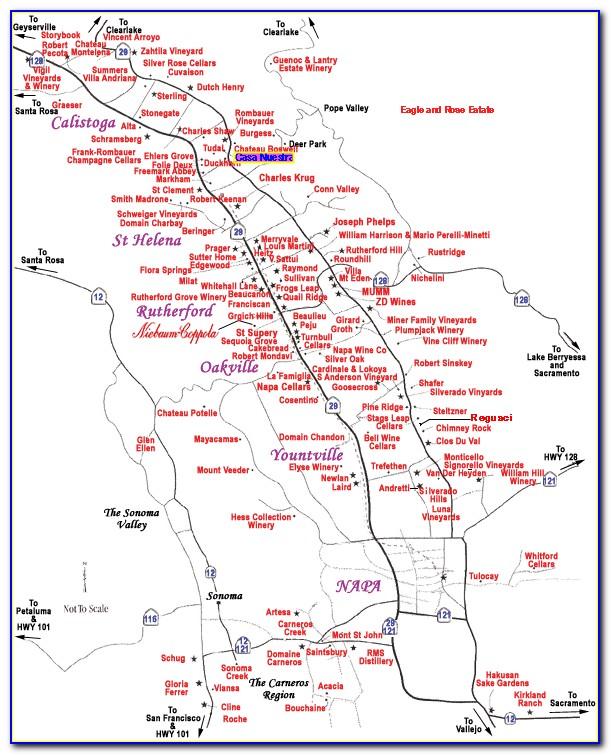 Napa Valley Winery Maps