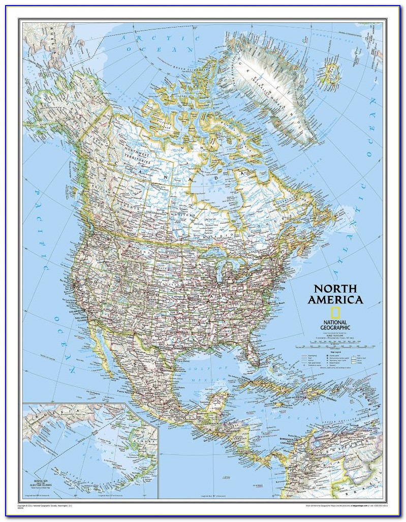 National Geographic 9'2 X6'4 Classic World Map Mural