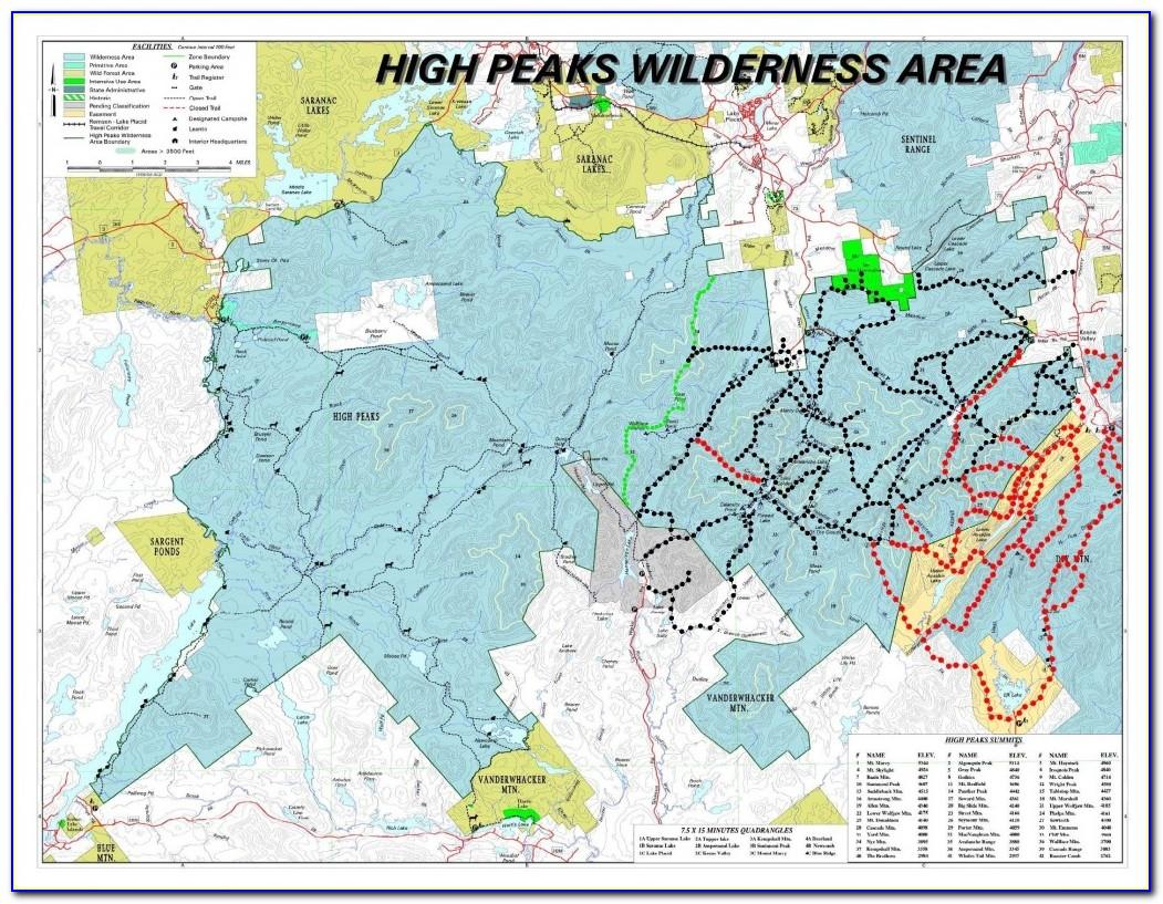 National Geographic Adirondack Trail Maps