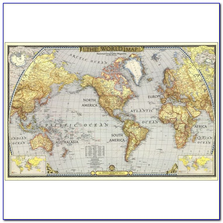 National Geographic Map Of The World