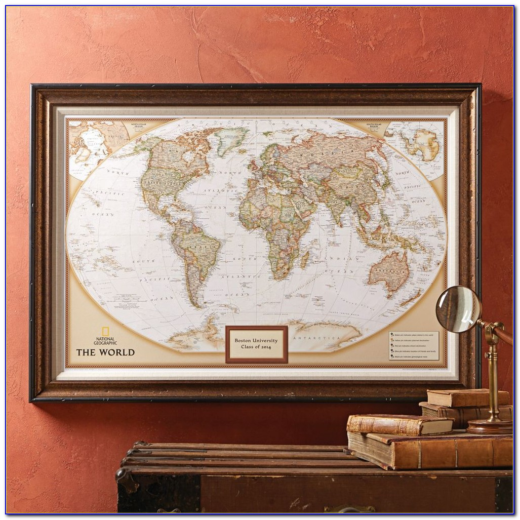 National Geographic ''my World'' Personalized Map Premium Edition