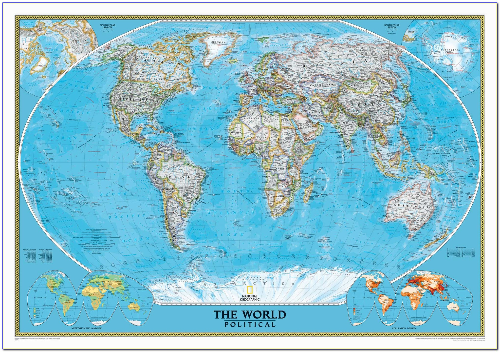National Geographic World Map Mural