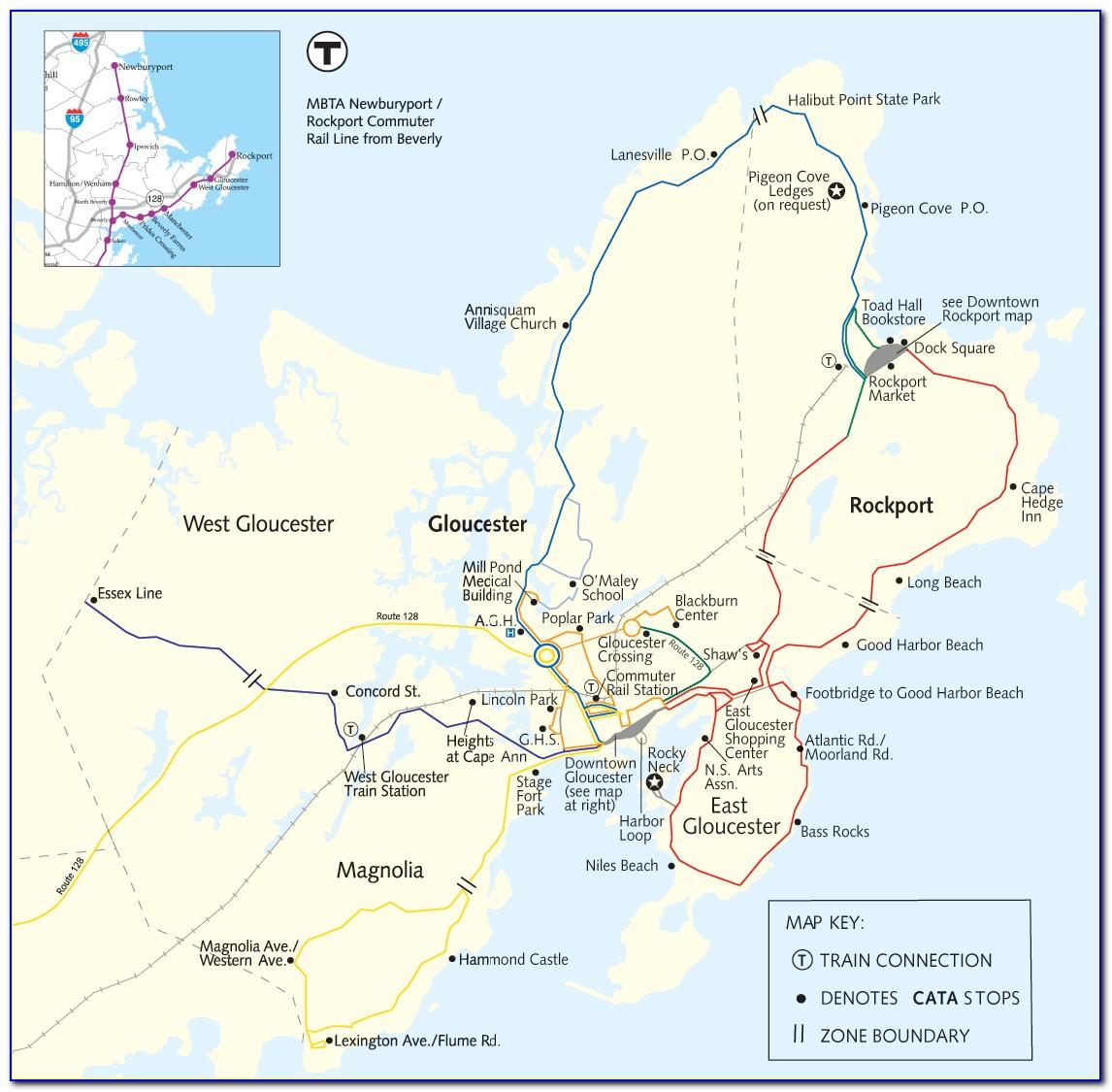 Nautical Map Of Cape Ann